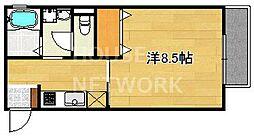 レヴールメゾン紫竹[203号室号室]の間取り