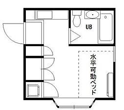 埼玉県さいたま市中央区本町西6丁目の賃貸アパートの間取り