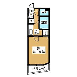JR山手線 目黒駅 徒歩5分の賃貸マンション 9階1Kの間取り