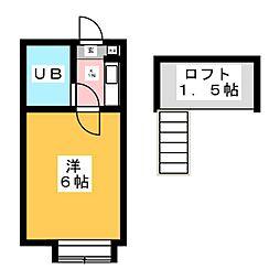 コスモ21NRSエイト[1階]の間取り