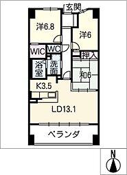 サーパス黒川 1202号室[12階]の間取り