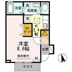 兵庫県三木市緑が丘町西4丁目の賃貸アパートの間取り