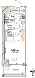 JR総武線 両国駅 徒歩7分の賃貸マンション 2階1Kの間取り