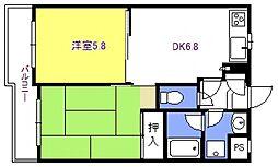 エスポワール与野[307号室号室]の間取り