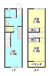 アーバンYASUNO[108号室]の間取り