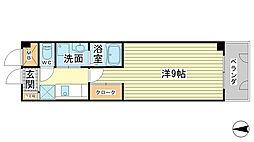 ベルフラワー山野井[102号室]の間取り