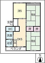 細川マンション[3階]の間取り