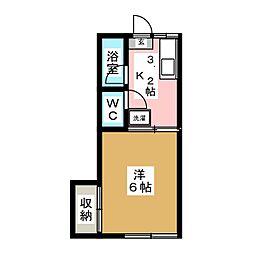 ニシテックハイツ[1階]の間取り