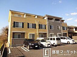愛知県豊田市御船町山屋敷の賃貸アパートの外観