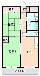 大阪府豊中市山ノ上町の賃貸アパートの間取り