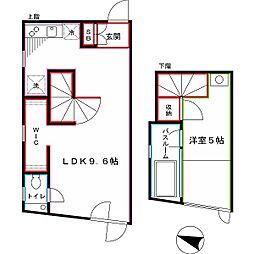 JR総武線 東中野駅 徒歩11分の賃貸マンション 3階1LDKの間取り
