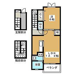リエ フュテュール[3階]の間取り