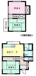 [一戸建] 千葉県鎌ケ谷市東初富5丁目 の賃貸【/】の間取り