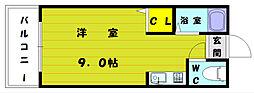 福岡県福岡市東区和白丘2丁目の賃貸アパートの間取り