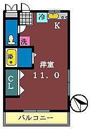 オネスティ大久保 壱・弐・参番館[1-205号室]の間取り