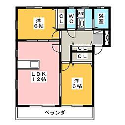 Sunny Court[2階]の間取り
