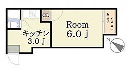 ひかりハイツ[5階]の間取り
