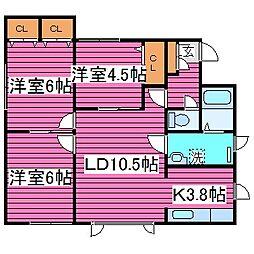 [テラスハウス] 北海道札幌市東区北三十六条東12丁目 の賃貸【/】の間取り