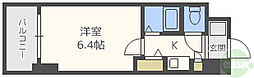 エステムコート新大阪 8階1Kの間取り