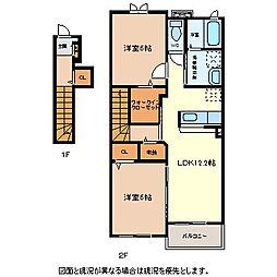 N.H.SEISEN B[2階]の間取り
