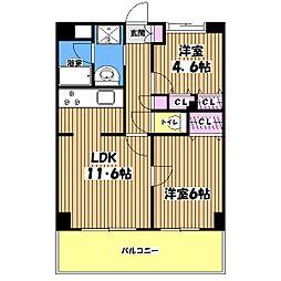ヴィバーチェ仙川[4階]の間取り