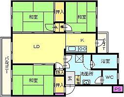 新金岡第7次住宅[4階]の間取り