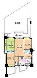 ソロン名島[4階]の間取り