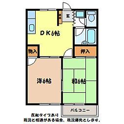 ドミール飯坂[3階]の間取り