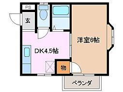 三重県四日市市羽津中2丁目の賃貸アパートの間取り