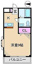 フローレス八番館[1階]の間取り