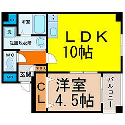 吹上アパートメント[2階]の間取り
