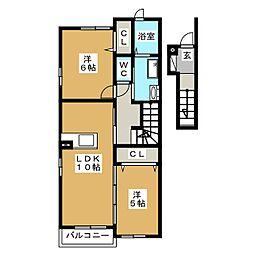 エテルノB[2階]の間取り