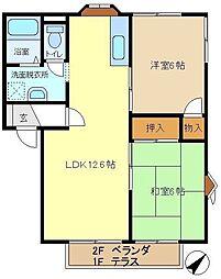 メゾンヨシコーB 202[2階]の間取り