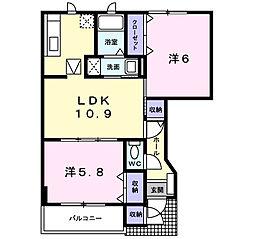 セポージャ徳永II番館[1階]の間取り