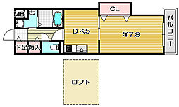 アプローズ[3階]の間取り