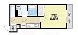 JR東海道・山陽本線 塚本駅 徒歩6分の賃貸アパート 2階1Kの間取り