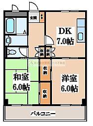 大阪府堺市北区南花田町の賃貸マンションの間取り