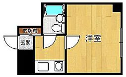 ホワイエ甲子園[1階]の間取り