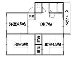 花園マンション[3階]の間取り