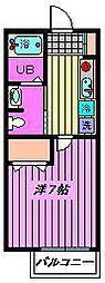 エスポワール戸田[201号室]の間取り