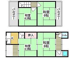 [一戸建] 大阪府堺市北区東浅香山町3丁 の賃貸【/】の間取り