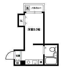 ワタルハイツ[3階]の間取り