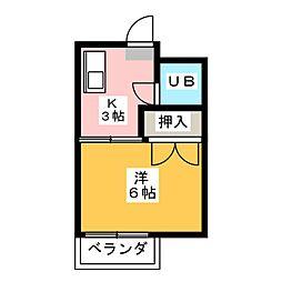 第2八神コーポB棟[2階]の間取り