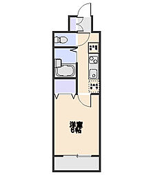 ドミール花小金井[3階]の間取り