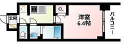 Osaka Metro御堂筋線 東三国駅 徒歩6分の賃貸マンション 8階1Kの間取り