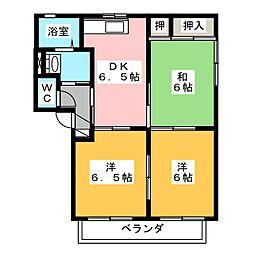 サンシャイン八丁 B棟[2階]の間取り