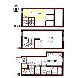 京王井の頭線 東松原駅 徒歩2分の賃貸アパート 1階1DKの間取り