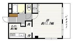 武蔵野サンハイツ東久留米[1階]の間取り
