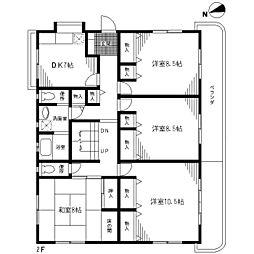 [一戸建] 東京都足立区佐野2丁目 の賃貸【/】の間取り