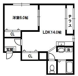 ラパンジール新大阪[2階]の間取り
